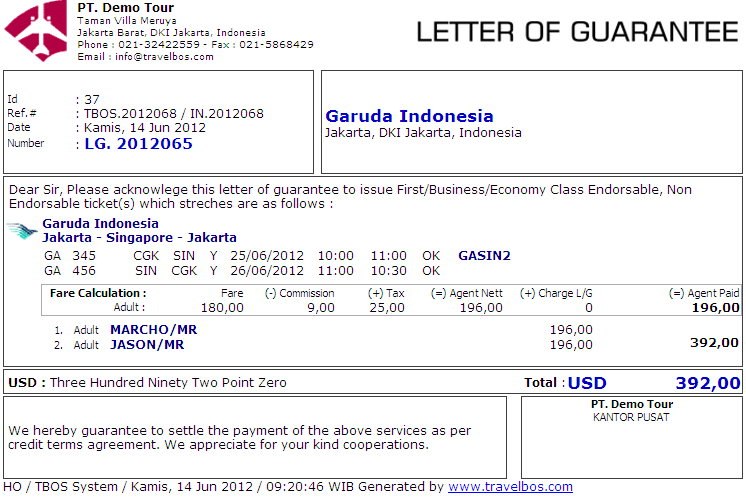 contoh invoice contoh invoice via email contoh letter of guarantee