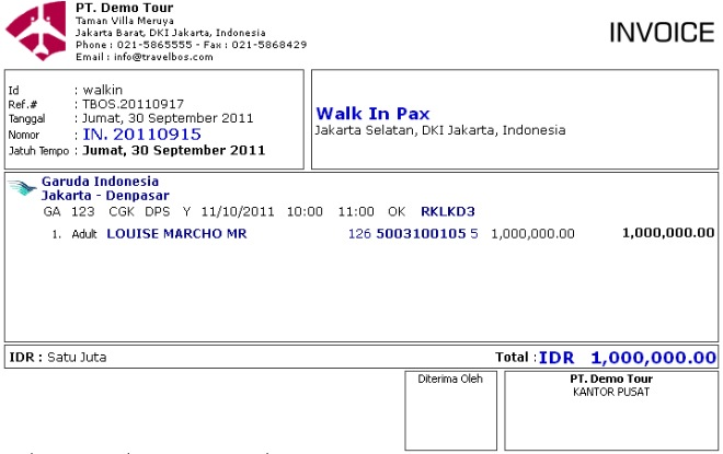Travel Invoice