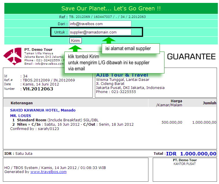 Email Contoh Invoice Via Email Contoh Letter Of Guarantee Contoh