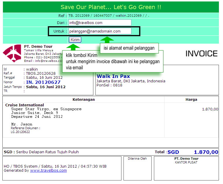 Email Contoh Invoice Via Letter Of Guarantee