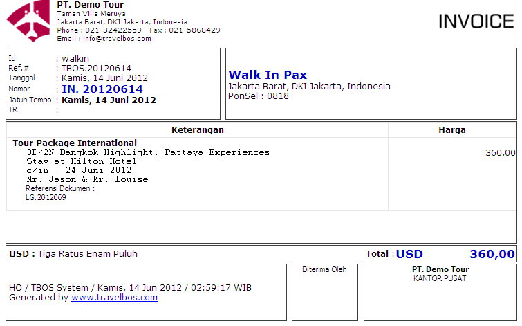 Contoh Invoice Via Email Letter Of Guarantee Pictures
